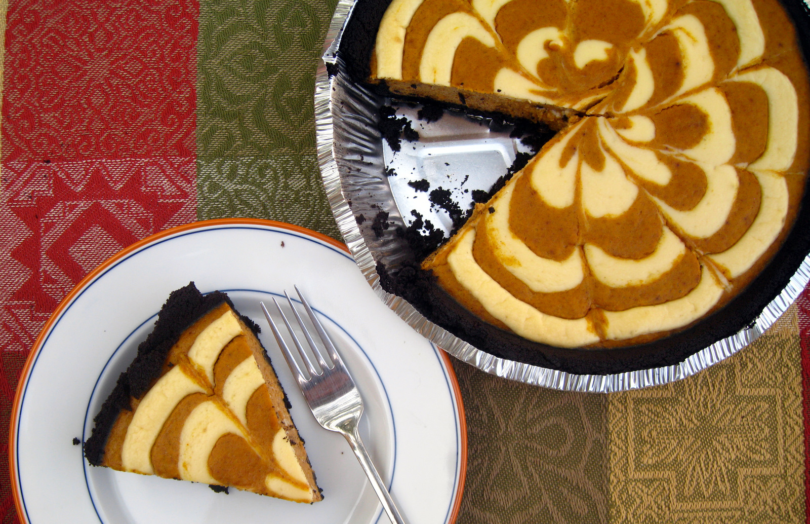 Halloween Pumpkin Cheesecake Pie | Every Woman Blog
