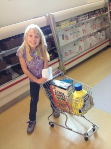 My girl Mina grocery shopping at the Edventure Grocery Store