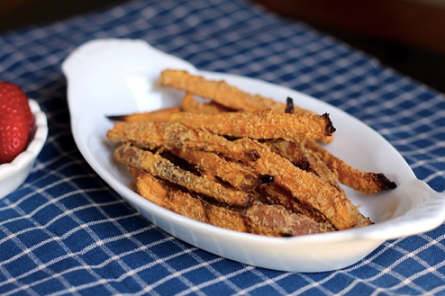 Peanut Crusted Sweet Potato Fries