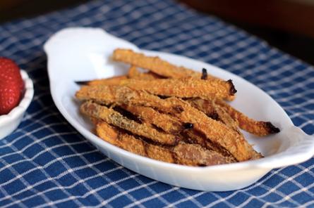 Peanut Crusted Sweet Potato Fries