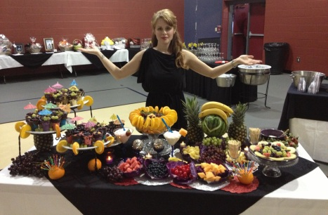 Fruit table and me