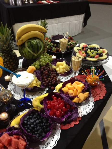 Fruit table close up
