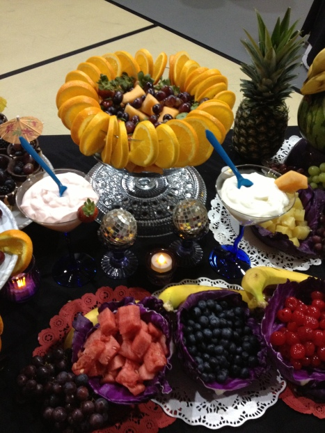 Fruit table close up 2