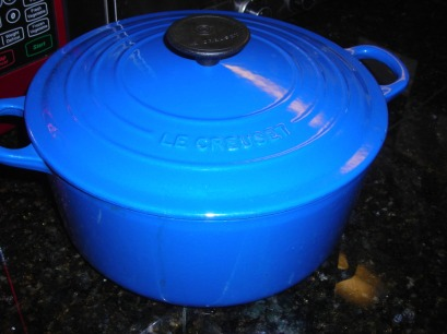 Le Creuset dutch oven $8