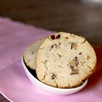 Cranberry Pecan Shortbread Cookies