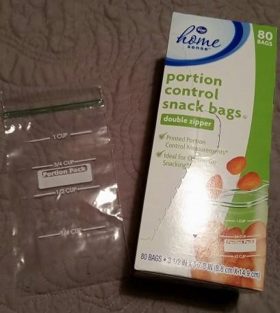 Portion control bag