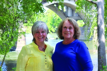 Patti Handel and Brenda Osteen at the West Columbia Riverwalk
