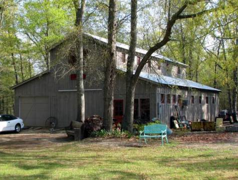 Constructing a barn