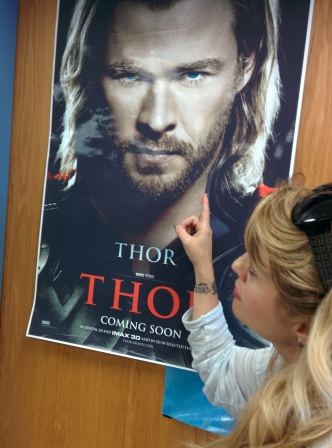 es, I admit, my Thor poster had to stay up until I was ready to walk out the door that final time! ;-)