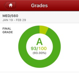 Grad class Final Grade - Worked incredibly hard for this A!
