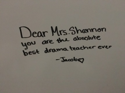 A precious student note that meant the world to me