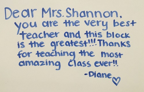 This special student message is one of the moments that makes all the hard work totally worth it!