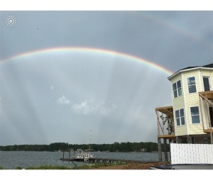 Rainbows over Lake Murray, SC