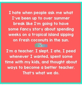 I'm a Teacher.
