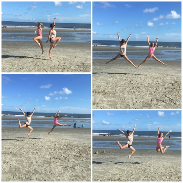 Jumpin for Joy on the Beach