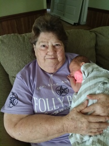 Granny and her youngest great-granddaughter